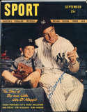 1946 September Joe Dimaggio Yankees Signed Sport Magazine