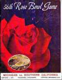 1970 Rose Bowl Football Program USC vs Michigan