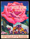 1944 Rose Bowl Football Program usc vs washington;