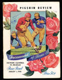 1948 Rose Bowl Football Program usc vs Michigan; complete