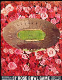 1965 Rose Bowl Football Program Michigan vs Oregon State