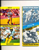 1983 Rose Bowl Press Media Guide UCLA vs Michigan Anthony Carter