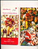 1968 Rose Bowl Press Media Guide OJ Simpson USC vs Indiana University