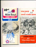 1976 Rose Bowl Press Media Guide USC vs Ohio State