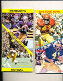 1977 Rose Bowl Press Media Guide USC Ricky Bell vs Michigan