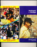 1978 Rose Bowl Press Media Guide Washington vs Michigan