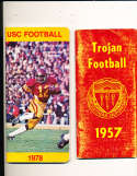 1957 USC Football Press Media Guide; complete; photo's