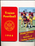 1966 USC Football Press Media Guide; complete; photo's
