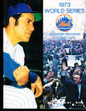 1973 World Series Unscored Program Mets (home) vs A's
