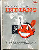 1951 Cleveland Indians Baseball Yearbook (corner crease)  a1