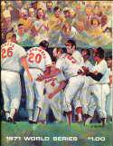1971 World Series scored Program orioles vs Pirates 10/9/1971 a1