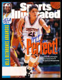 1995 4/10 Jennifer Rizzotti Signed Sports Illustrated Connecticut champs (c1)