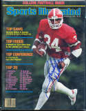 1988 8/31 Hershell Walker Georgia no label Signed  Sports Illustrated (a1)