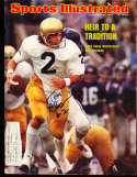 1974 9/30 Tom Clements Notre Dame Signed  Sports Illustrated (a1)