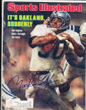 1978 1/2 Mark Van Eeghen Raiders label  Signed  Sports Illustrated (b1)