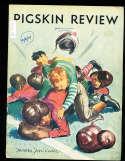 1937 10/2 USC vs Washington football program; writing on cover, scored,