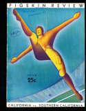 1932 11/5 USC vs California football program; writing on cover, scored,  center crease