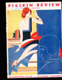 1931 10/10 USC vs Washington state football program; writing on cover, scored,  center crease, loose center page, cut pa
