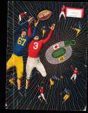 1951 Stanford vs California BIG GAME football program