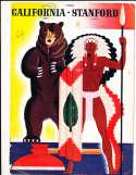 1939 Stanford vs California BIG GAME football program