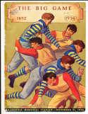 1936 Stanford vs California BIG GAME football program