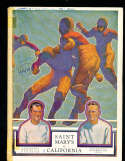 1928 10/6 California vs Saint Mary's football Program; writing on cover