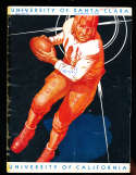 1930 9/27 California vs Santa Clara football Program; writing on cover
