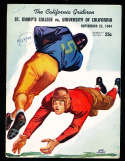 1944 9/23 California vs Saint Mary's football Program; writing on cover