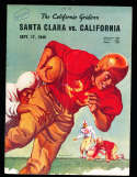 1949 9/17 California vs Santa Clara football Program; writing on cover