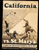 1927 10/8 California vs St. Mary's football Program;