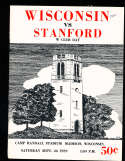 1959 9/26 Wisconsin vs Stanford football program;