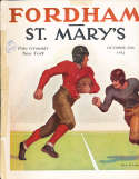 1934 10/20 Fordham (vince Lombardi) vs St. Mary's Football Program