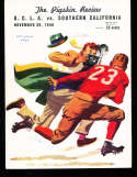 1940 11/30 UCLA Jackie Robinson vs USC  Football Program