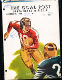 1940 10/4 UCLA Jackie Robinson vs Santa Clara  Football Program