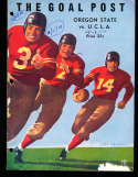 1939 11/25 UCLA Jackie Robinson vs Oregon State Football Program hole punch