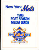 1986 New York Mets Post Season Media Guide