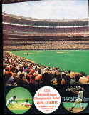 1972 NLCS Cincinnati Reds vs Pittsburgh Pirates Baseball Program crease