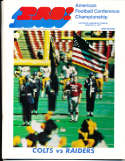1971 1/3 Baltimore Colts vs Oakland Raiders AFC Championship  football Program;