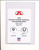 1971 AFC Championship Raiders vs Colts football Press media guide; nm