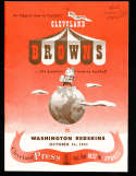 1951 10/14 Washington Redskins vs Cleveland Browns football Program; nm envelope