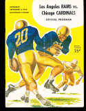 1954 9/4 Los Angeles Rams vs Chicago Cardinals Football program Played in Oregon