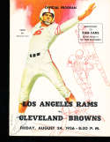 1956 8/24 Los Angeles Rams vs Cleveland Browns Football program