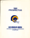 1980 Prospectus Los Angeles Rams -19 pages 8x10 size