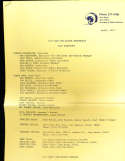 1973 Los Angeles Rams Pre Season Prospectus 15 pages legal size document