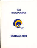 1981 Prospectus Los Angeles Rams -19 pages 8x10 size
