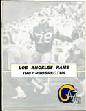1987 Prospectus Los Angeles Rams -24 pages 8x10 size