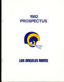 1982 Prospectus Los Angeles Rams -19 pages 8x10 size