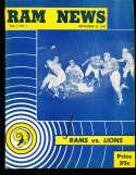 1948 9/22 Los Angeles Rams vs Detroit Lions Football program