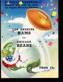 1949 10/30 Los Angeles Rams vs chicago bears Football program