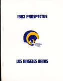 1983 Prospectus Los Angeles Rams -22 pages 8x10 size